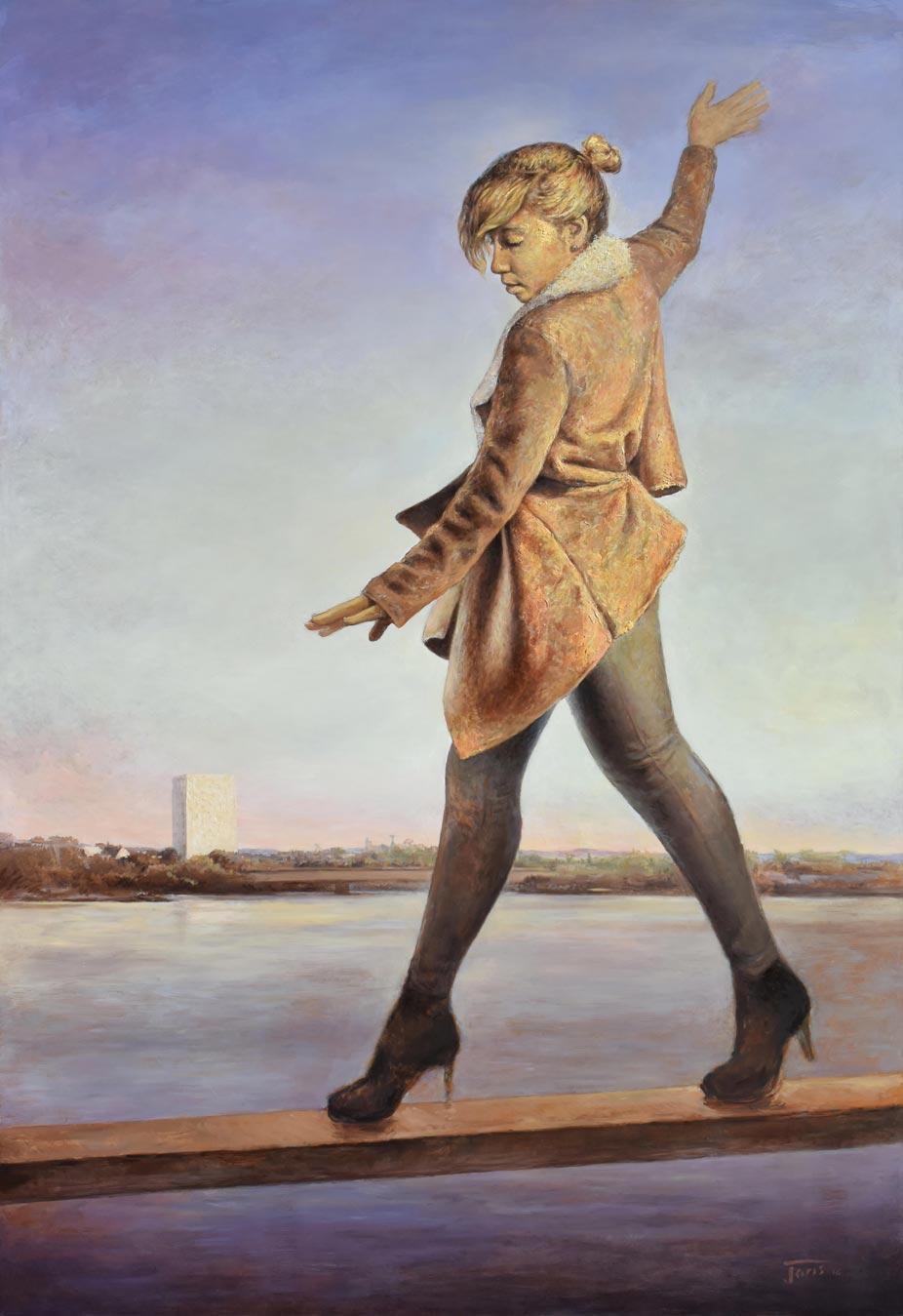 joris-le-dain-nana-huile-sur-bois-et-emulsions-peinture-huile